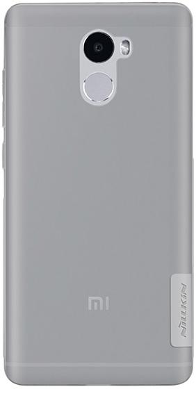 TPU чехол Nillkin Nature Series для Xiaomi Redmi 4 (Серый (прозрачный))