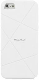 Чехол Macally FLEXFITW-P5 для iPhone 5/5S/SE (Белый)
