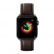 Кожаный ремешок для Apple Watch 38/40 mm LAUT OXFORD Espresso (LAUT_AWS_OX_ES) - ITMag