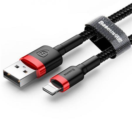 Купить Аксессуары iPhone 5/5S/SE, Кабель Lightning Baseus Kevlar Lightning Cable 1m Black (CALKLF-BG1)