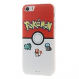 Пластиковая накладка EGGO Pokemon Go для iPhone 5/5S/SE (Pokeball and Pocket Monsters)