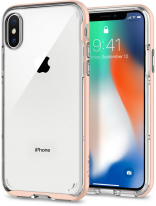 Spigen Case Neo Hybrid Crystal for iPhone X Blush Gold (057CS22173)