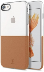 Чехол Baseus Half to Half Case For iPhone7 Brown (WIAPIPH7-RY08)