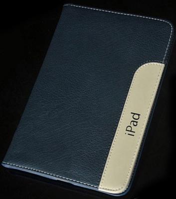 Чехол EGGO Ultraslim для iPad Air 2 (кожа, темно синий)