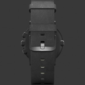 Pebble Time Round 20mm band (Black with Nero Black Leather) - ITMag