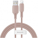 Кабель Baseus USB Cable to Lightning Colourful 2.4A 1.2m Pink (CALDC-04)