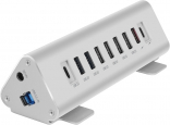 Адаптер Macally USB-C 9-port Hub (Charger) Silver (UCTRIHUB9-EU)
