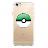 TPU чехол EGGO Pokemon Go Poke Ball для iPhone 6/6S (Green)