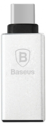 OTG Baseus Sharp Series type-c adapter Silver (CATYPEC-AD0S)