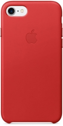 Apple iPhone 7 Leather Case - (PRODUCT)RED MMY62
