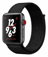 Apple Watch Nike+ Series 3 (GPS + Cellular) 42mm Space Gray Aluminum w. Black/Pure PlatinumSport (MQLF2)