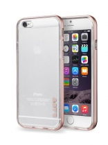 Бампер LAUT EXO-FRAME Aluminium bampers для iPhone 6/6S - Rose Gold (LAUT_IP6_EX_RG)