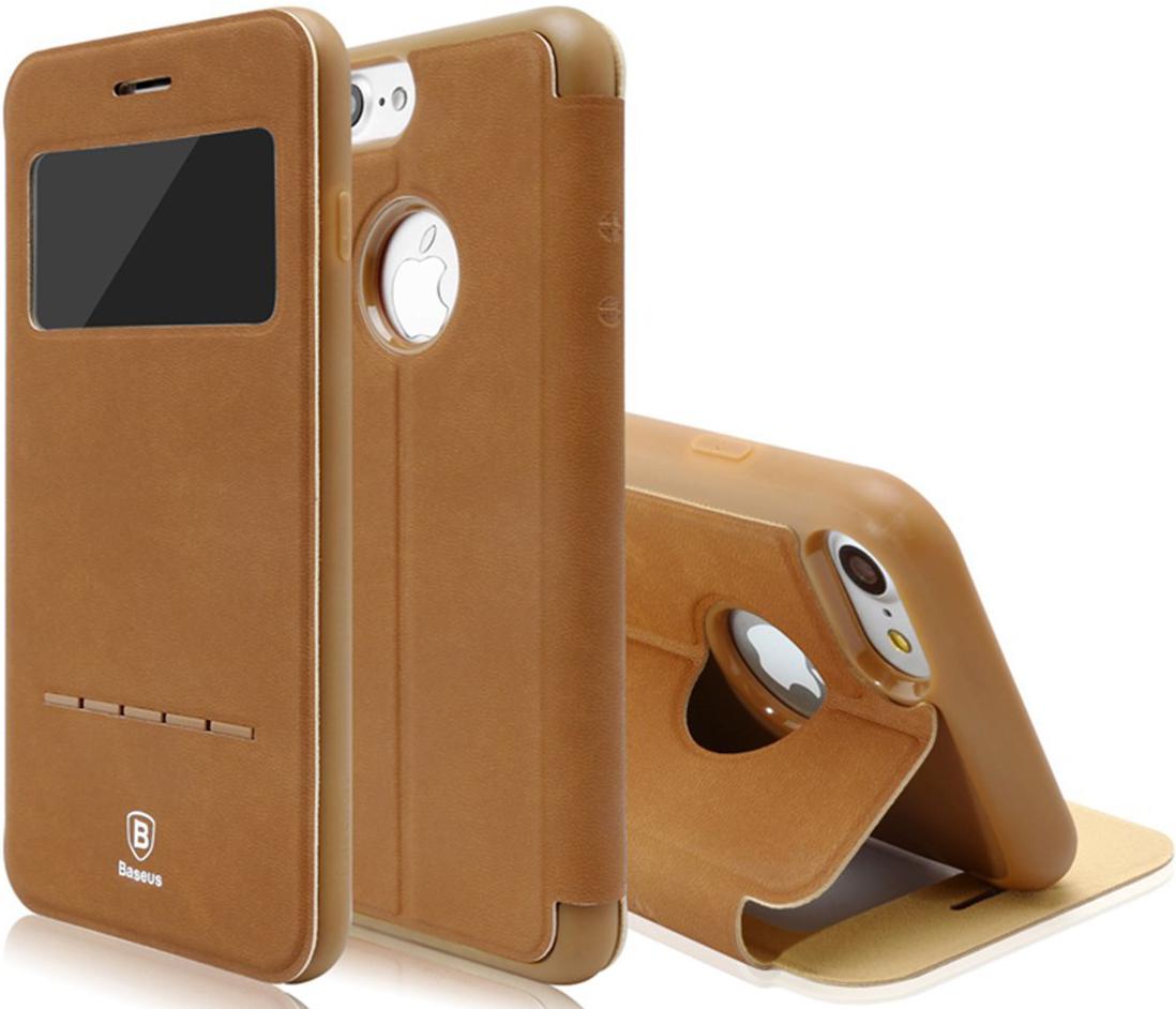Чехол Baseus Simple Series Leather Case iPhone 7 Brown (LTAPIPH7-SM08)