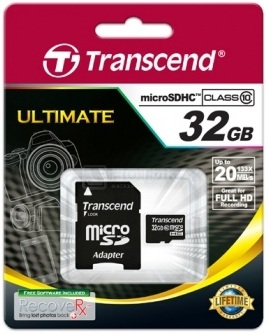 карта памяти Transcend 32 GB microSDHC class 10 + SD Adapter SDC10/32GB - ITMag