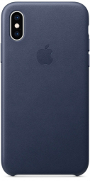 Apple iPhone XS Leather Case - Midnight Blue (MRWN2)