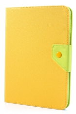 Чехол EGGO двухцветный Leather Stand Case for Samsung Galaxy Tab 3 10.1 P5200/P5210 (Green / Yellow)
