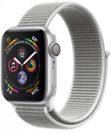 Apple Watch Series 4 GPS 44mm Silver Aluminum w. Seashell Sport Loop - Silver (MU6C2)