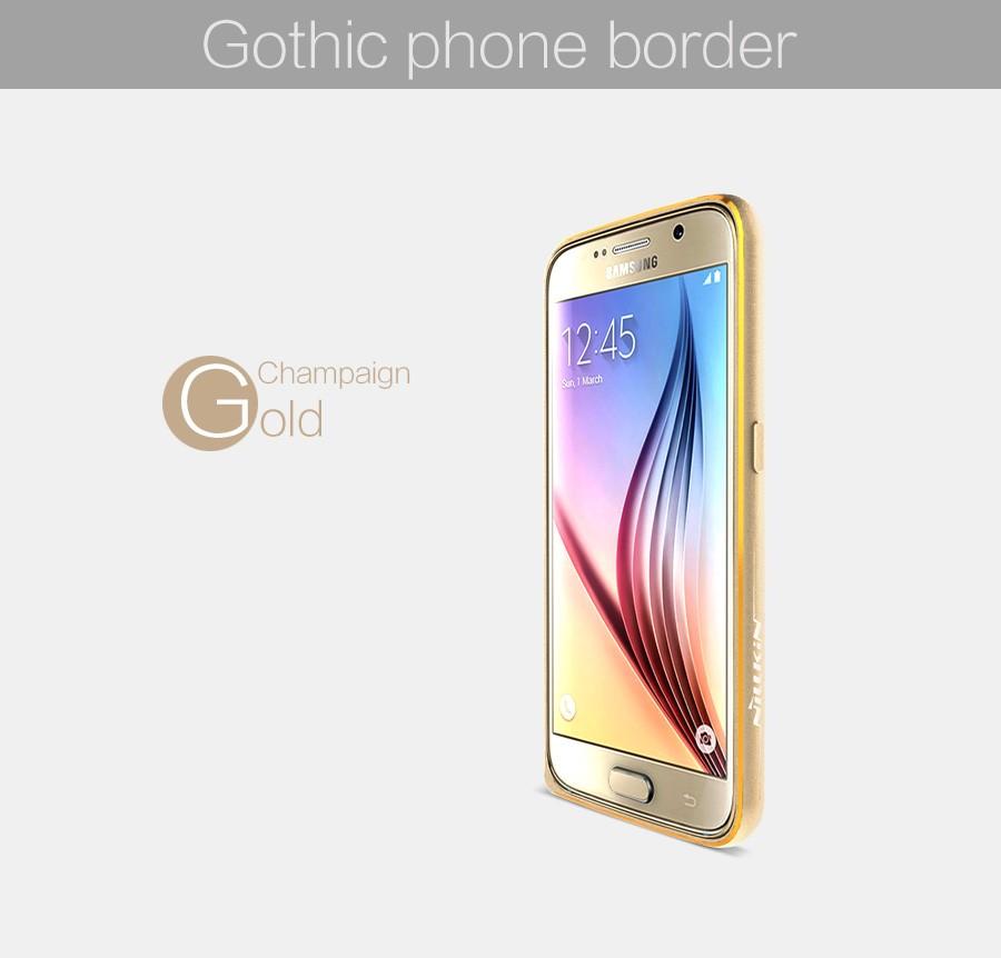 Металлический бампер Nillkin Gothic Series для Samsung G920F Galaxy S6 (Золотой)