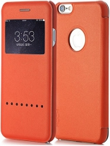"Чехол (книжка) Rock Rapid Series для Apple iPhone 6/6S (4.7"") (Оранжевый / Orange)"