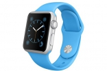 Apple Watch 38mm Silver Aluminum Case with Blue Sport Band (MJ2V2)