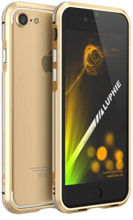 """Алюминиевый бампер Luphie Blade Sword для Apple iPhone 7 (4.7"""") (Золотой / Серебряный)"""