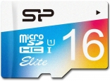 карта памяти Silicon Power 16 GB microSDHC Class 10 UHS-I Elite Color + SD adapter SP016GBSTHBU1V20-SP