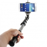 Selfie Stick EGGO with Bluetooth Remote Camera Shooting  - Black
