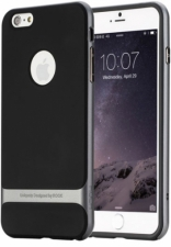 "TPU+PC чехол Rock Royce Series для Apple iPhone 7 plus (5.5"") (Черный / Серый)"