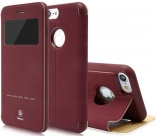 Чехол Baseus Simple Series Leather Case iPhone 7 Wine Red (LTAPIPH7-SM09)