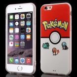 TPU чехол EGGO Pokemon Go для iPhone 6/6S (Pokeball and Pocket Monsters)