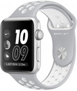Apple Watch Nike+ 42mm Silver Aluminum Case with Silver/White Nike Sport Band (MNNT2)