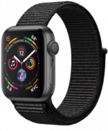 Apple Watch Series 4 GPS 44mm Space Gray Aluminum w. Black Sport Loop - Space Gray (MU6E2)