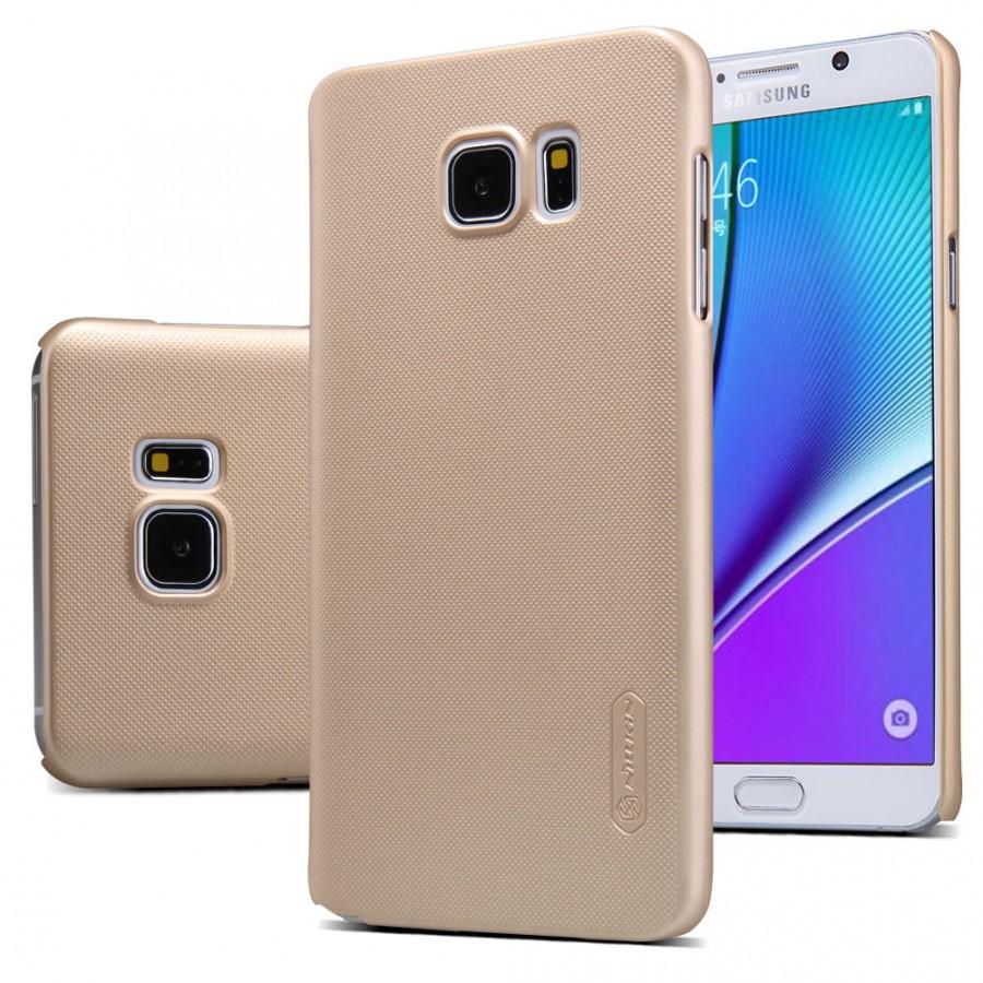 Чехол Nillkin Matte для Samsung Galaxy Note 5 (+ пленка) (Золотой)