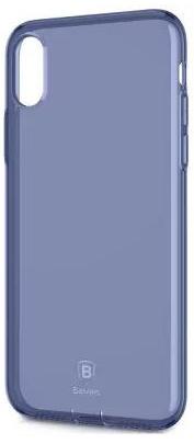 "TPU чехол Baseus Simple Ultrathin для Apple iPhone X (5.8"") с заглушкой (Синий / Transparent Blue) (ARAPIPHX-A02)"