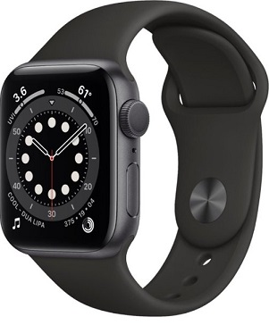 Apple Watch Series 6 GPS 40mm Space Gray Aluminum Case w. Black Sport B. (MG133)