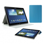Чехол Crazy Horse Tri-fold with Wake Up for Samsung Galaxy Note 10.1 (2014) P600/P601/P605 Blue