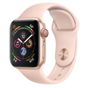 Apple Watch Series 4 GPS + LTE 40mm Gold Alum. w. Pink Sand Sport b. Gold Alum. (MTUJ2, MTVG2) - ITMag