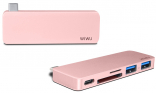 WIWU Adapter T6 USB-C to USB-C+SD+2xUSB3.0 HUB Rose Gold