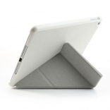 Чехол EGGO Tri-fold Cross Pattern Leather Case for iPad Air White
