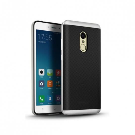 Чехол iPaky TPU+PC для Xiaomi Redmi Note 4X (Черный / Серебряный)