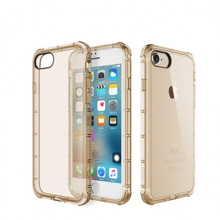 Купить TPU чехол ROCK Fence series для Apple iPhone 7 (4.7 ) (Золотой / Transparent Gold)