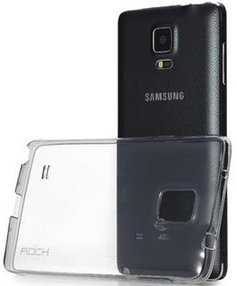 TPU чехол ROCK Slim Jacket для Samsung N910H Galaxy Note 4 (Черный / Transparent black)