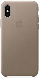 Apple iPhone XS Max Leather Case - Taupe (MRWR2)