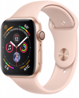 Apple Watch Series 4 GPS 44mm Gold Aluminum w. Pink Sand Sport B. - Gold (MU6F2)
