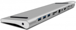 WIWU Adapter T7 USB-C to USB-C+RJ45+SD+3xUSB3.0+VGA+Mini Display port Space Gray (6957815505302)