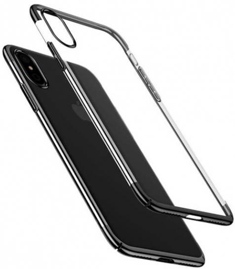"Пластиковая накладка Baseus Glitter Case Ultrathin для Apple iPhone X (5.8"") (Черный) (WIAPIPHX-DW01)"