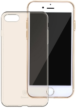 Чехол Baseus Simple Series Case (Clear) For iPhone7 Transparent Gold (ARAPIPH7-B0V)