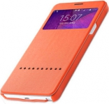 Чехол (книжка) Rock Rapid Series для Samsung N910S Galaxy Note 4 (Оранжевый / Orange)