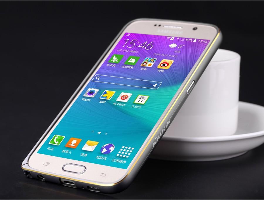 Металлический бампер Nillkin Gothic Series для Samsung G920F Galaxy S6 (Серый)