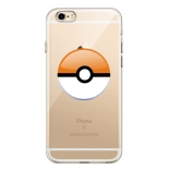TPU чехол EGGO Pokemon Go Poke Ball для iPhone 6/6S (Orange)